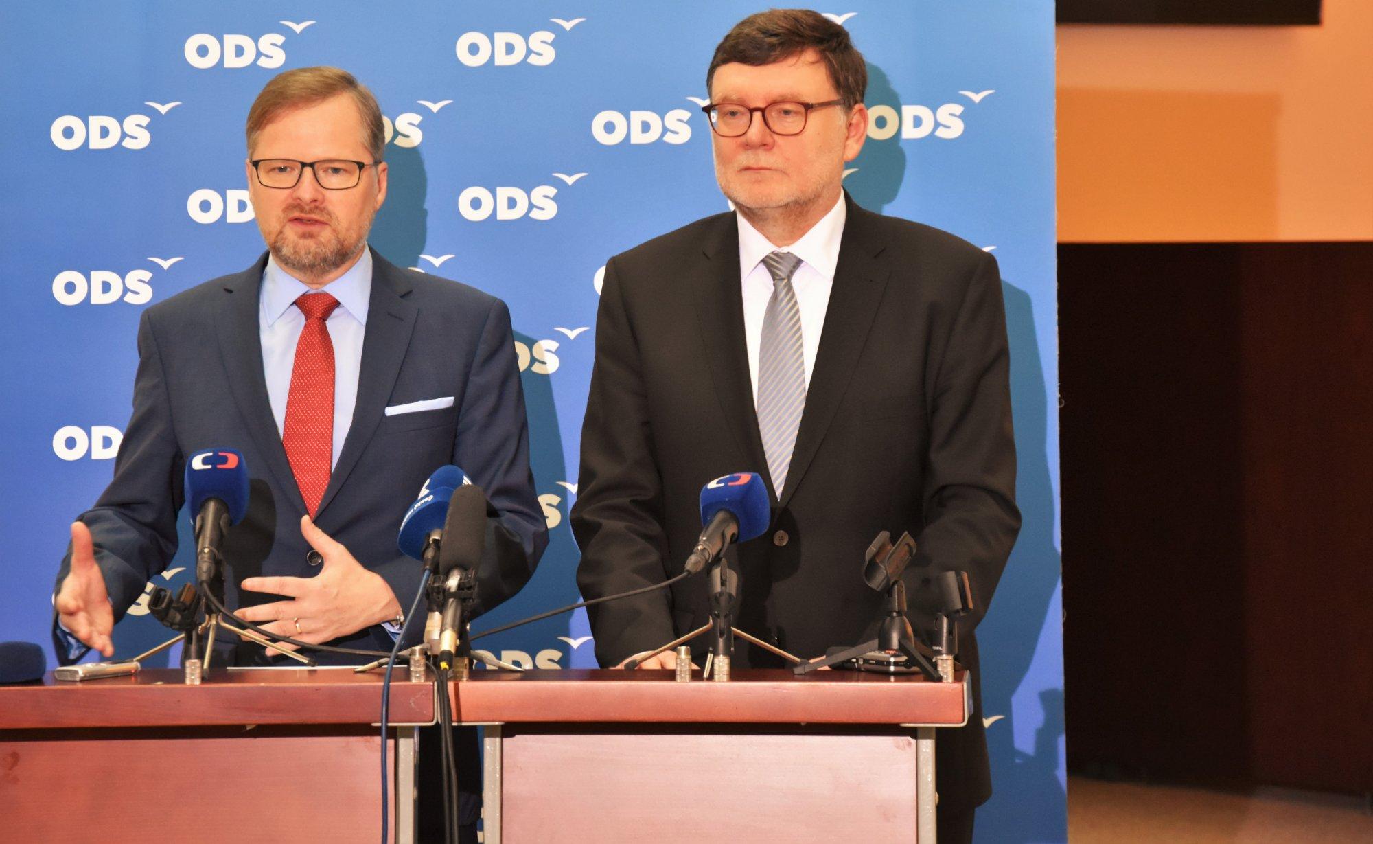 Petr Fiala: ODS jednobarevnou menšinovou vládu ANO nepodpoří