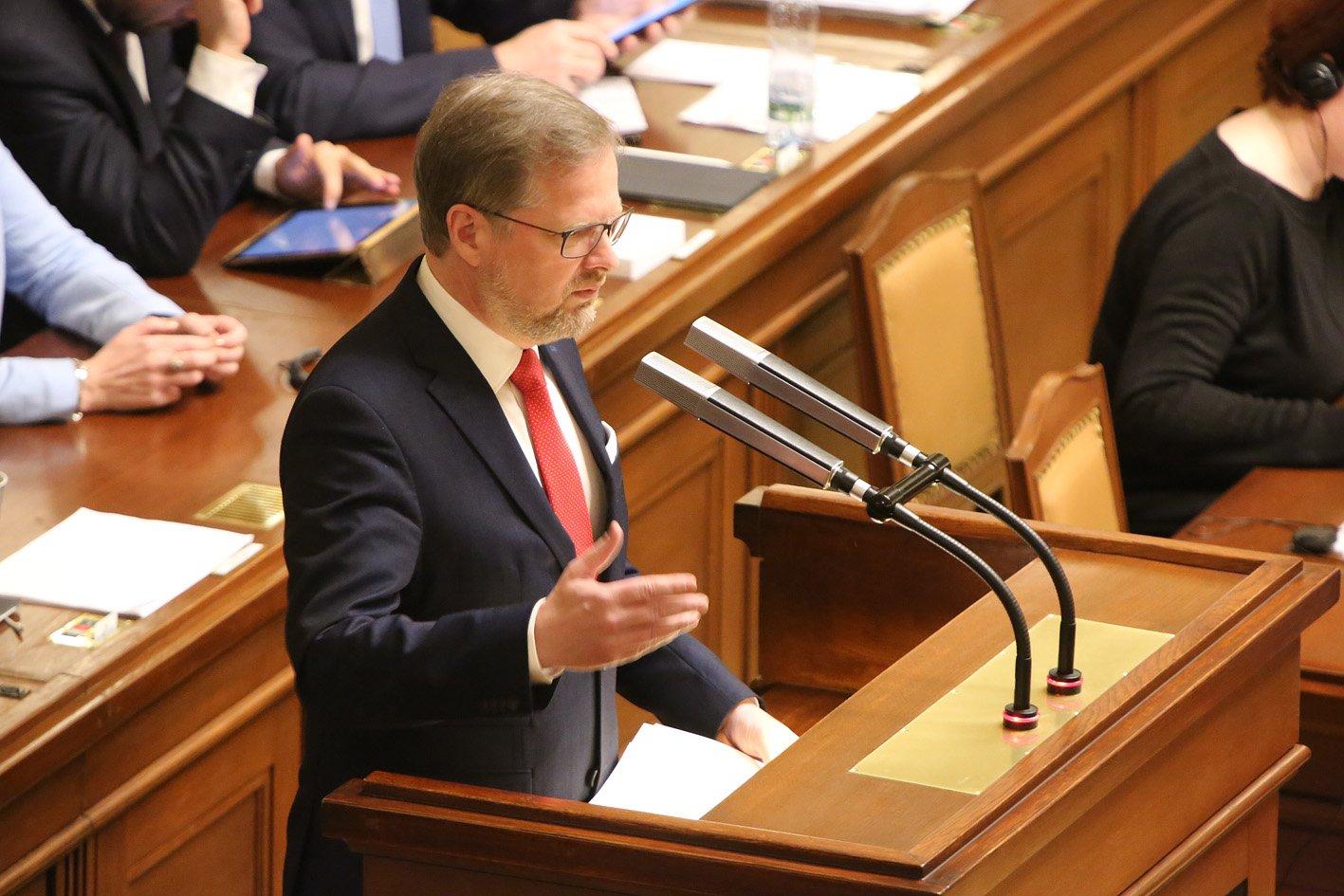 Petr Fiala: Projev na mimořádné schůzi Poslanecké sněmovny k personálním změnám, které provádí vláda bez důvěry