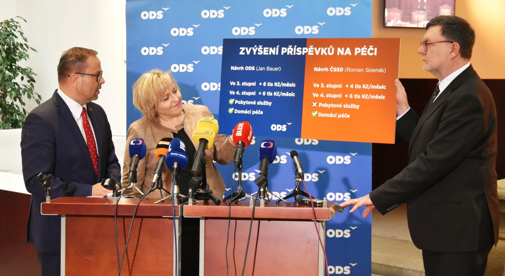 ODS: Navrhujeme zvýšení příspěvku na péči o 6 tis. Kč pro osoby ve 3. i 4. stupni závislosti