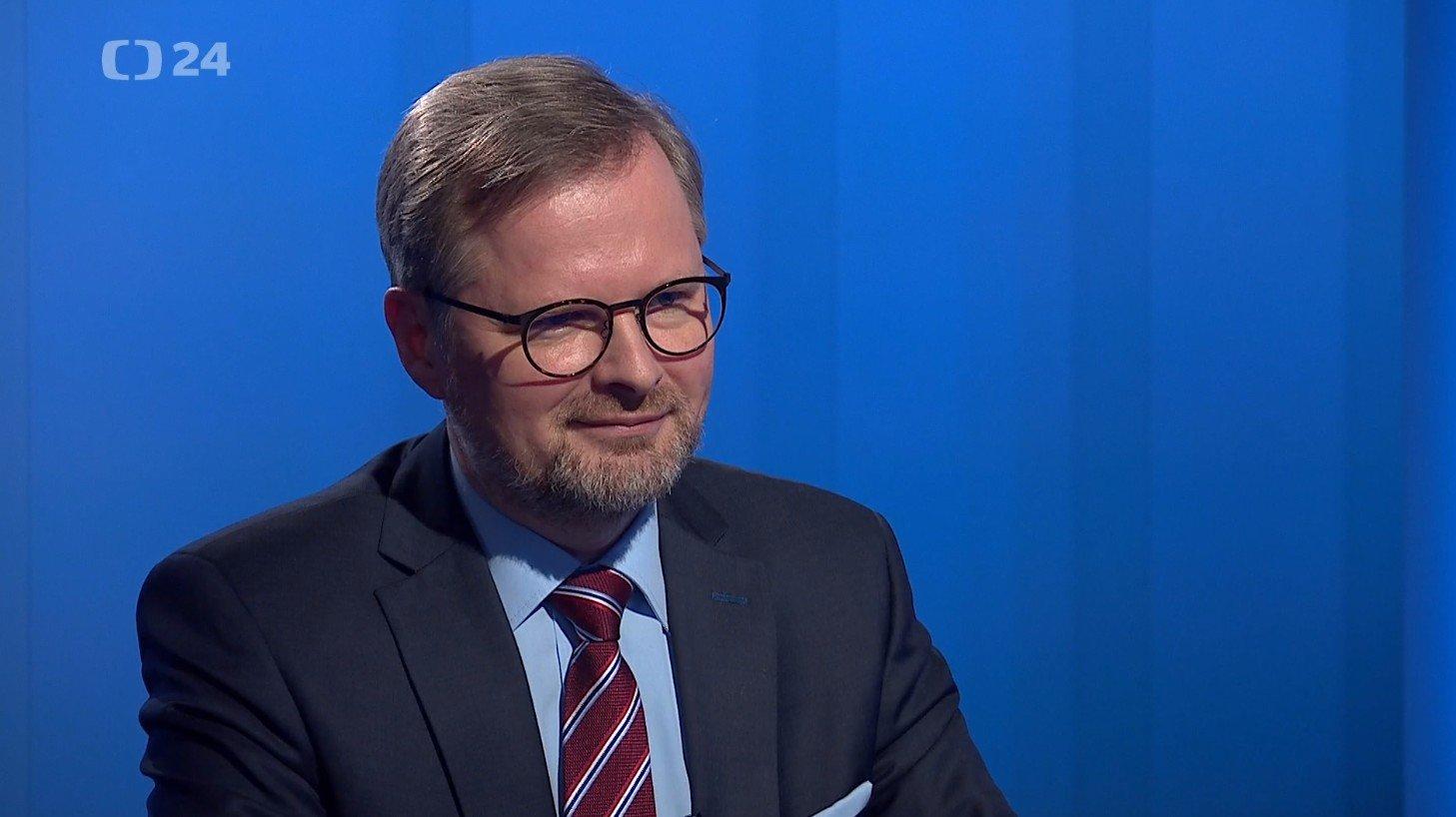Petr Fiala: Interview ČT24: Klaus mladší teď konkuruje Babišovi, SPD a komunistům. Loví stejné voliče