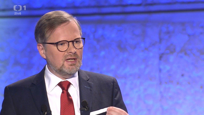 Petr Fiala: Předvolební superdebata České televize o vztahu národní a unijní politiky