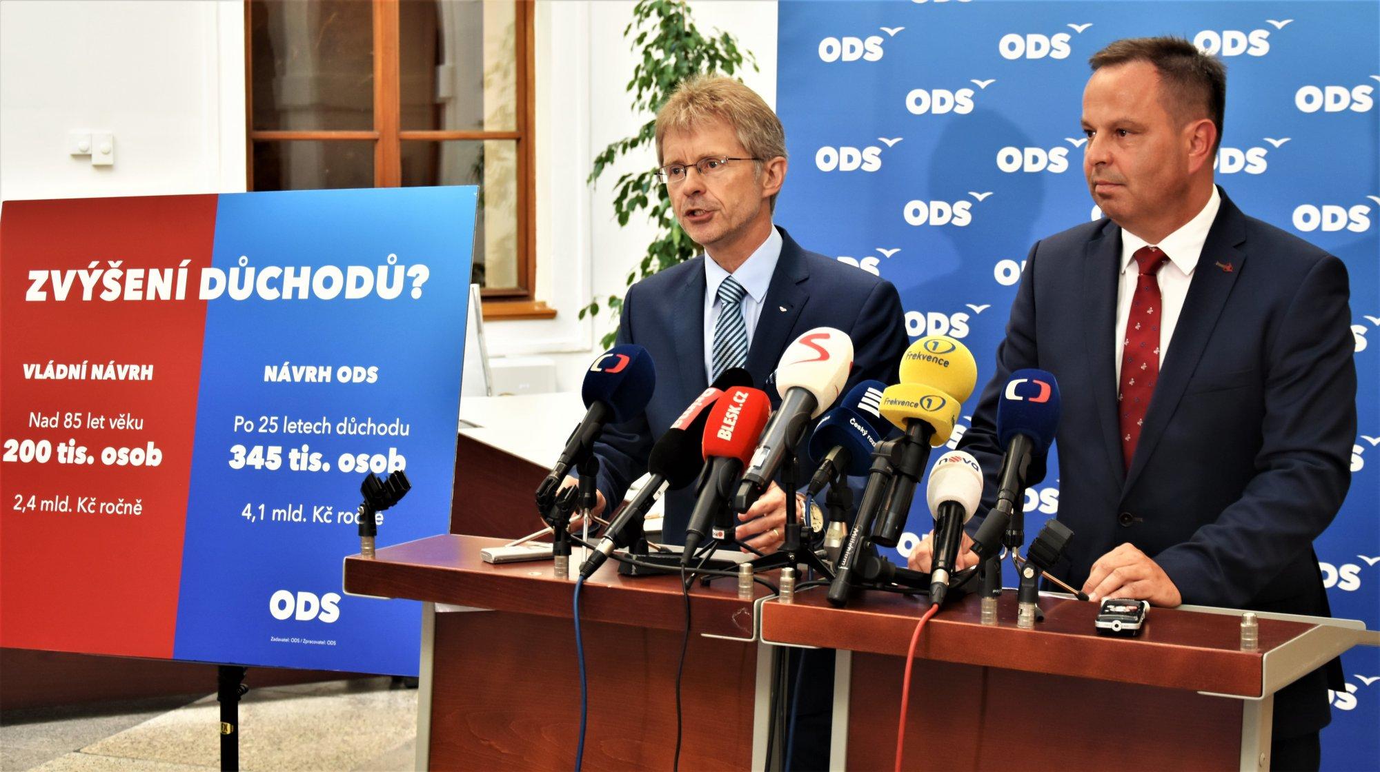 ODS: Ať vláda řekne, co od důchodové komise vlastně chce