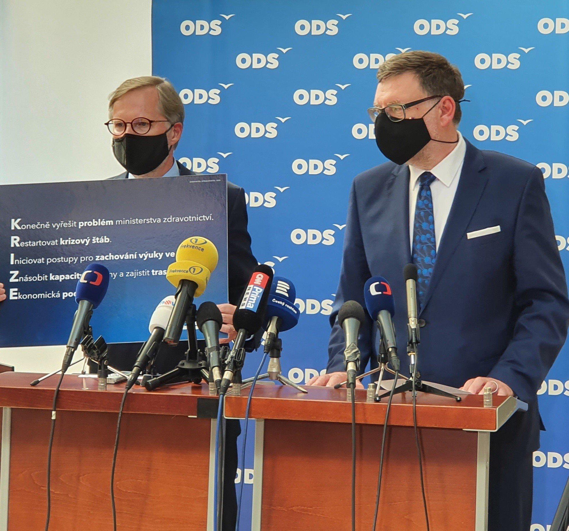 ODS: Konec ministra Vojtěcha a restart krizového štábu. Máme konkrétní kroky k řešení druhé vlny covidu