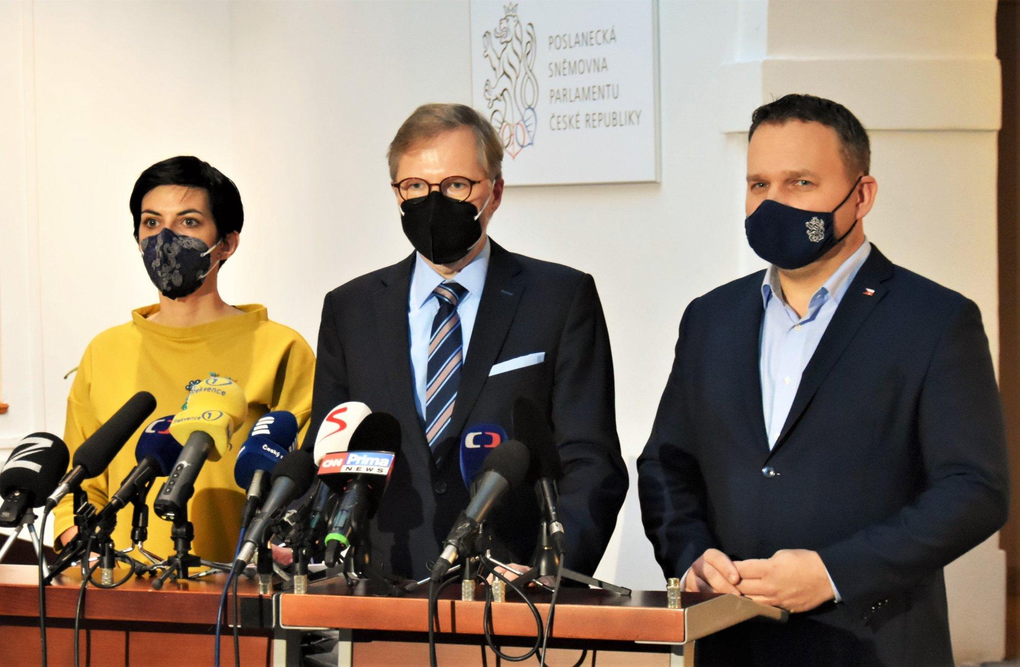 ODS, KDU-ČSL a TOP 09 pracují na programu, koaličním kandidátem na premiéra je Petr Fiala