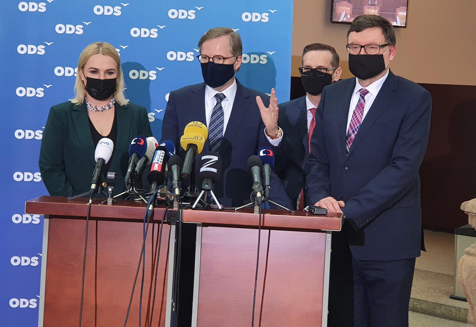 ODS: Chceme vyšetřovací komisi k Bečvě a zařazení bodu k Navalnému