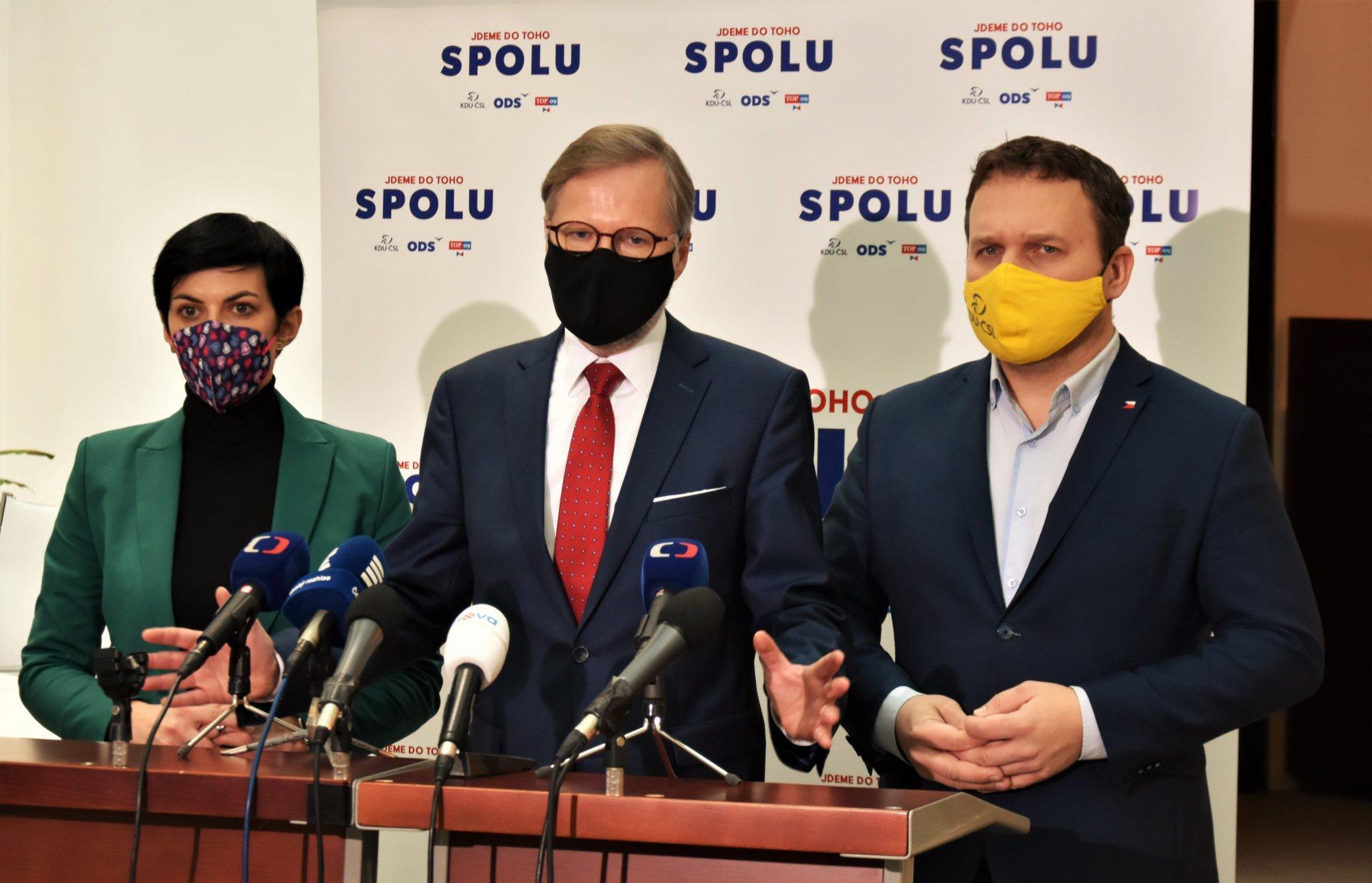 SPOLU: Hnutí ANO nedrží slovo, nepodpořilo projednání volebního zákona ani okolnosti prodloužení nouzového stavu. Ten nepodpoříme