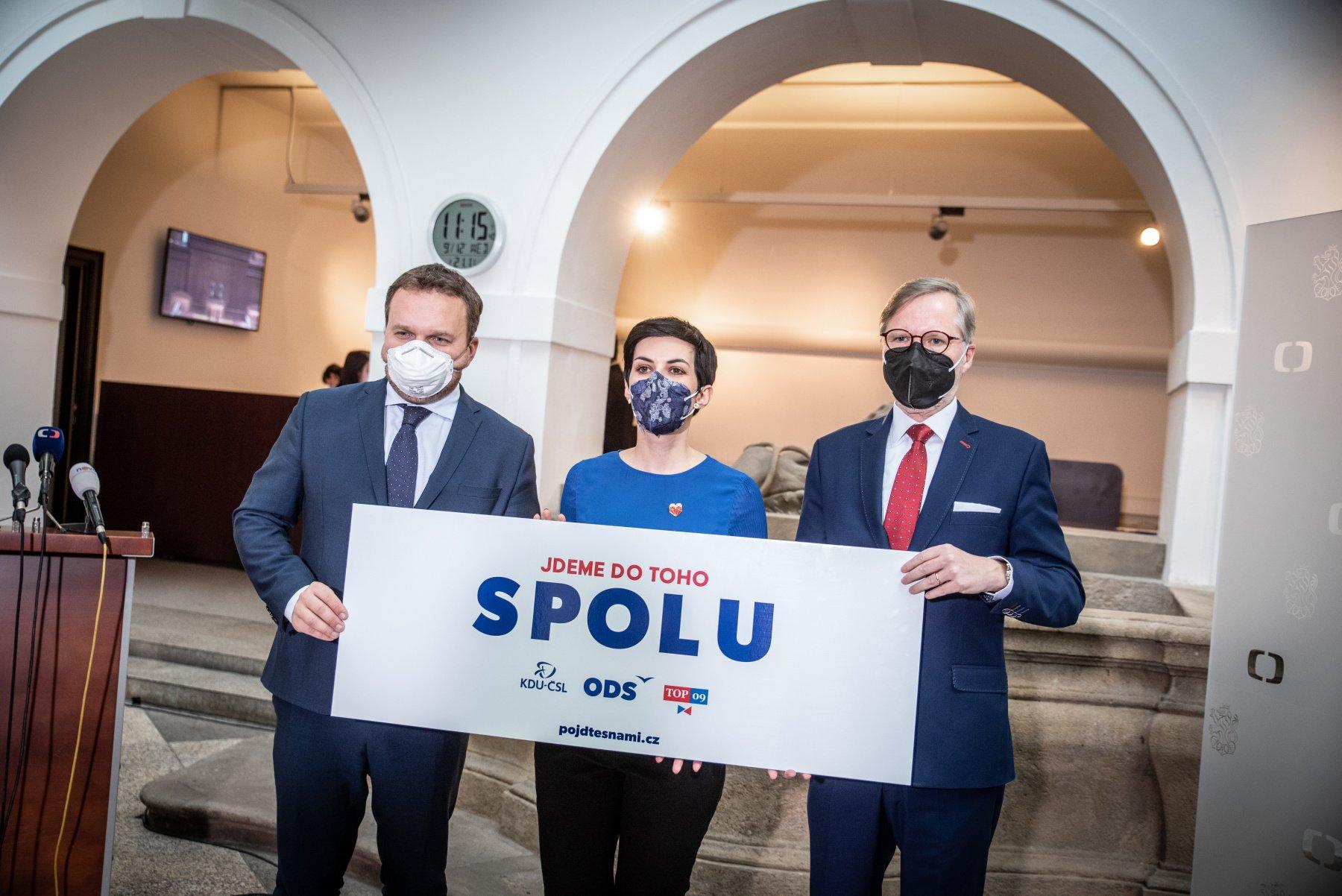 """SPOLU: V dubnu spustíme kampaň """"Dáme Česko dohromady"""". Koaliční smlouvu podepíší předsedové 11. dubna"""
