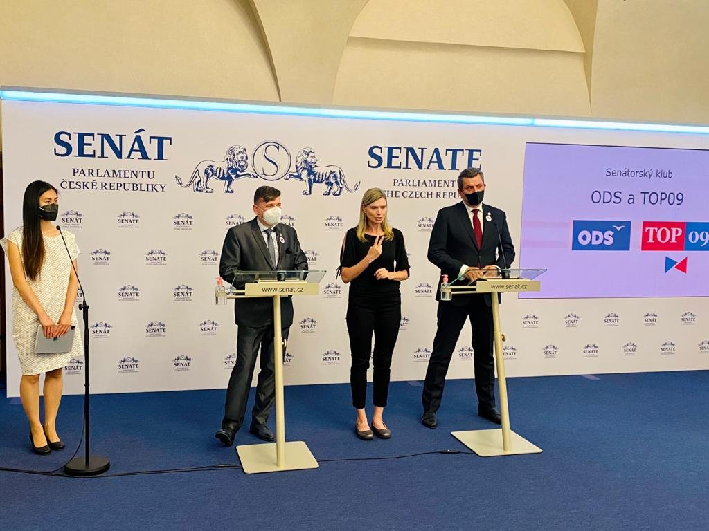 Senátorský klub ODS a TOP 09: Máme výhrady k povinnému rozestupu 1,5 metru od cyklistů. Je třeba najít vhodný kompromis