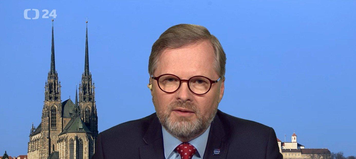 Petr Fiala: Interview ČT24: Zrušení superhrubé mzdy byla dobrá věc. Ušetřit by se dalo digitalizací či na počtech úředníků