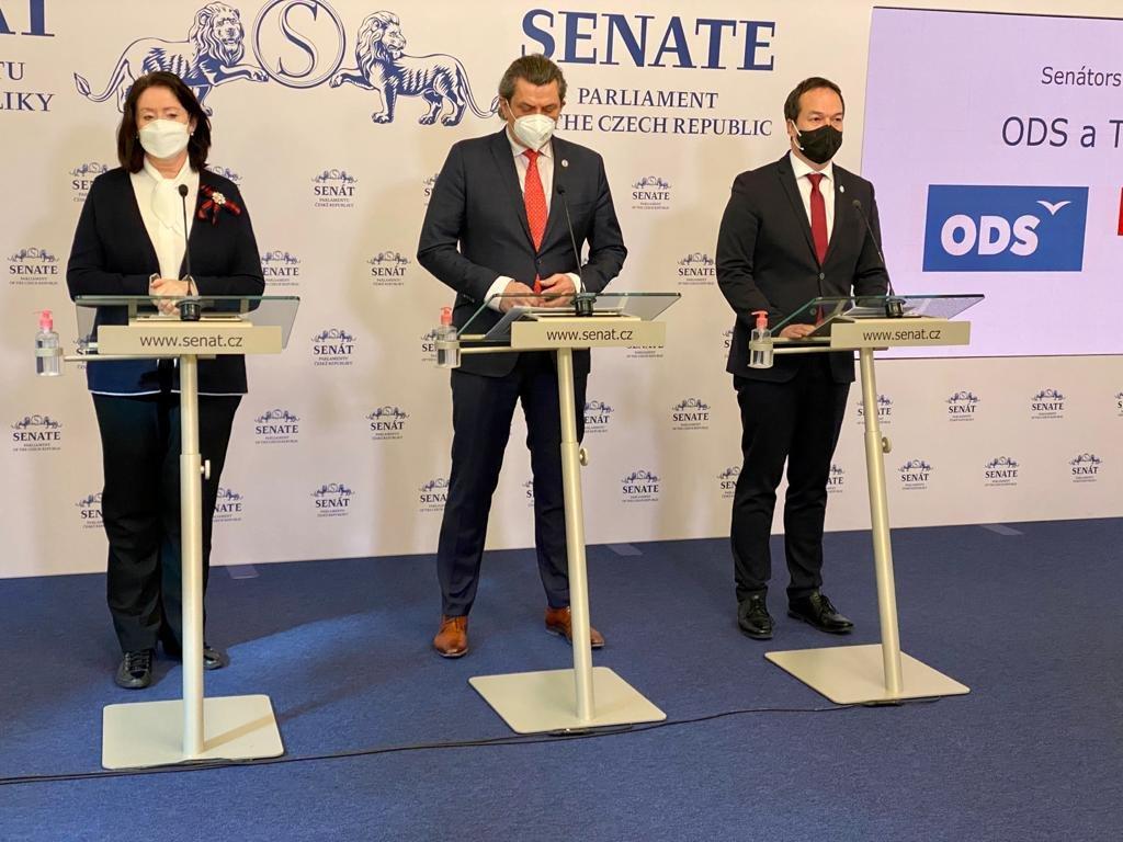 Senátorský klub ODS a TOP 09: Odsuzujeme zneužití kontroly Státního úřadu pro účely předvolební kampaně Jany Maláčové a Matěje Stropnického